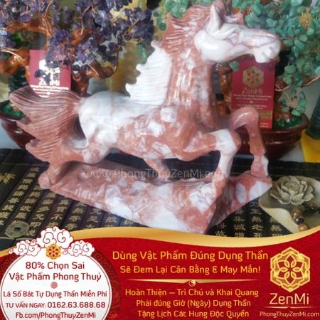 Vật phẩm Mã Đáo Thành Công – Cẩm Thạch Đỏ - Ngựa Thăng Quan | Dụng Thần Hoả