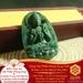 Mặt Dây Phật Đà Niêm Hoa Vi Tếu - Ngọc Ấn Độ - Bình An May Mắn   Dụng Thần Mộc