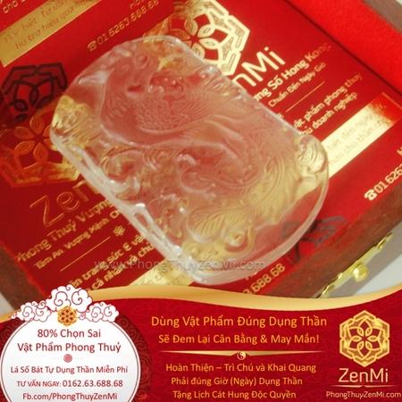 Mặt Dây Phượng Hoàng Cửu Thiên - Đá Lưu Ly - Tình Duyên Kinh Doanh | Dụng Thần Kim