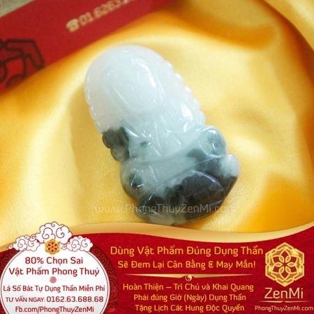 Mặt Dây Phật Đà Hộ Thân - Ngọc Bích - May Mắn Trừ Tà | Dụng Thần Mộc